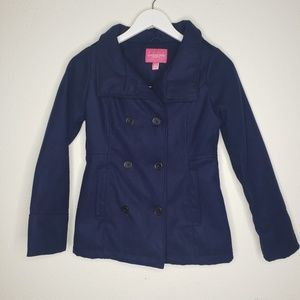 London Fog Navy Blue Pea Coat